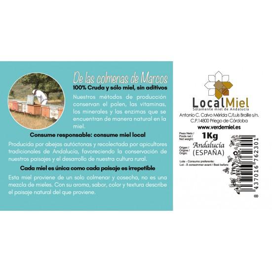 6 Kg of Raw Honey of Flowers of Sierra Morena LocalMiel