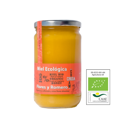 VerdeMiel Organic Raw Honey Flowers and Rosemary