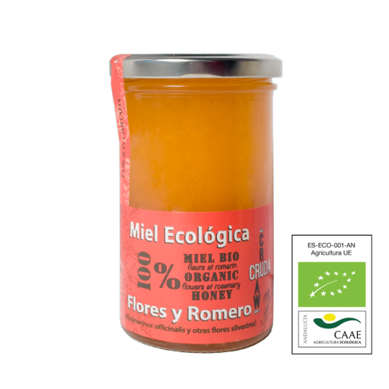 VerdeMiel Organic Raw Honey Flowers and Rosemary