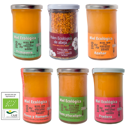 Pack particulares 6x375g Miel Ecológica