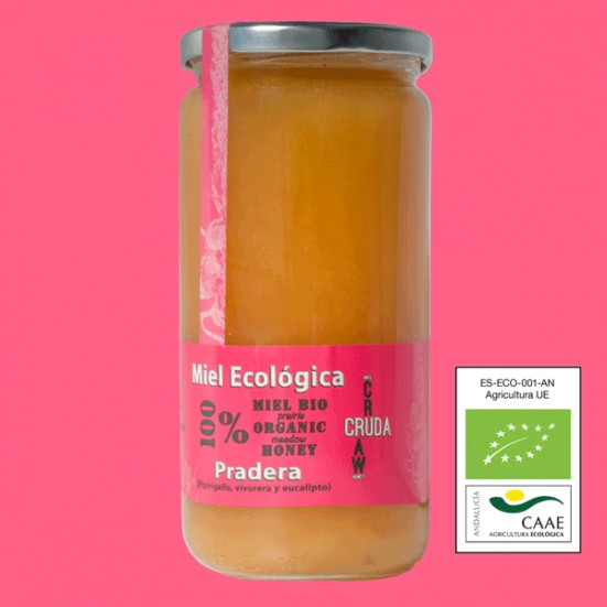 VerdeMiel 100% Miel Cruda Ecológica Pradera de Andalucía