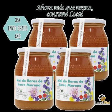 3 Tarros de 1Kg de LocalMiel Flores de Sierra Morena
