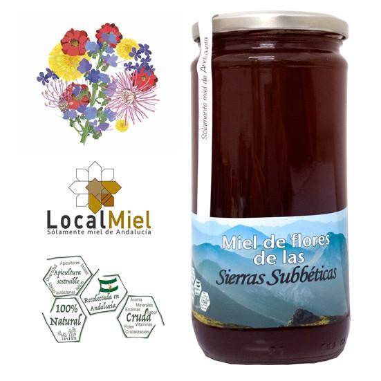 4 Tarros de 1Kg de Miel de Flores de las Sierras Subbéticas LocalMiel