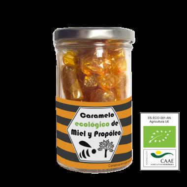 Caramelos ecológicos de miel y propóleo